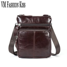 VM FASHION KISS Leisure Retro Real Oil Wax Leather Messenger Bag Genuine  Leather Crossbody Bags Flap Men s Bag Handbag inexpensive body waxing adfc638760