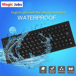 2018 usb keyboards for laptops Magic_Jobs 85keys Russian keys Wire USB Interface silicon keyboard Russian layout teclado waterproof keyboard for PC Des