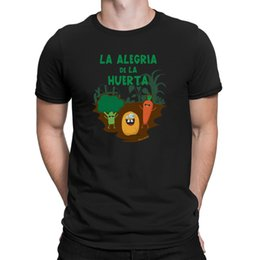patriotic clothes Australia - La Alegria De Huerta Mens Patriotic T-Shirt Funny Spanish Garden Novelty Top Short Sleeve Cotton Clothing