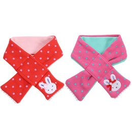 $enCountryForm.capitalKeyWord UK - Autumn Winter Baby Scarf Cute Rabbit Pattern Polka Dot Print Children Girls Warm Scarf Korean Edition Toddler Baby Loop Scarves