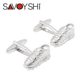 $enCountryForm.capitalKeyWord Canada - SAVOYSHI Silver Shoe Shape Cufflinks for Mens Shirt Cuff Bottons Copper Materials Cuff Links Fashion Jewelry Accessories