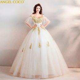 Dresses Maternity Clothing Luxury Court Train Bling Bling Pregnant Wedding Dress Dubai Gold Bride Mariage Winter Pregnancy Maternity Bridal Gowns Free Veil