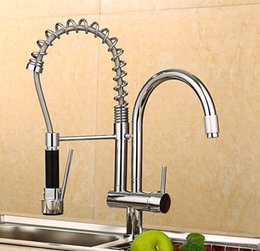 $enCountryForm.capitalKeyWord NZ - Spring Pull Out Kitchen Sprayer Faucet Brass Material Modern Chrome Double Faucet Design Hot And Cold Wash Basin Sink Mixer Tap
