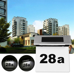 $enCountryForm.capitalKeyWord Australia - Outdoor Lighting Doorplate Solar Lamp Light-operated Led Billboard Lamp of Outdoor House Number Solar Apartment Number