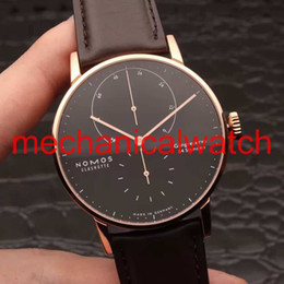 glasses straps NZ - High quality Business leisure automatic mechanical leather strap coated glass 316 l stainless steel shell Luxury NOMOS LAMBDA mens watches