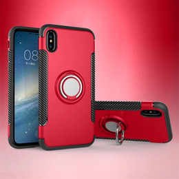 Discount chinese phone oppo - 2018 New Style Phone case For Apple Samsung OPPO Stents 360°Non-slip Scratch-resistant Carbon fiber Vehicle-mounted PC
