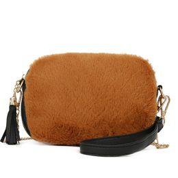 2018 New Arrival Women Small Crossbody Bags Ladies Faux Fur Clutch Bag  Winter Cute Chain Shoulder Bags Wedding Party Purse Bolsa d3c306447545b