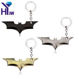 Superhero Keychains Canada - HEYu Movies Superhero Key Chain Batman Key Ring Bat Pendant Gaes Keychain The Avengers Marvels Key Holder Gift Chaveiro Jewelry