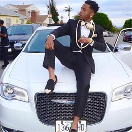 dark blue gentlemen suits 2019 - 2018 Black Gentleman Business Men Suits Custom Made 2 Piece (Jacket+Pants+Tie) Fashion Classic Men Wedding Suit Slim Fit