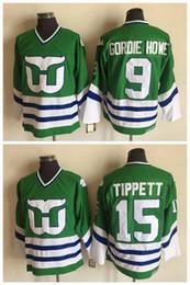 ef0d30177 Discount hartford whalers jerseys - Hartford Whalers Jersey 9 Gordie Howe  15 Dave Tippett Green 100