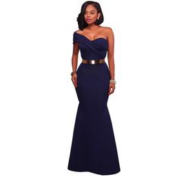 Long Dress Party Navy Blue Red Sexy One Shoulder Maxi Gowns Robe De Soiree  Longue 2018 Vestido Longo De Festa Lc61774 1f0bc8da21b0