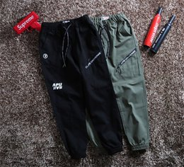 $enCountryForm.capitalKeyWord NZ - 2018 New 18ss AAPE Human head elastic waist track Trousers Men Women fashion sport Jogger Sweatpants Outdoor Pants