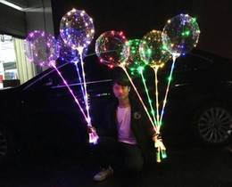 $enCountryForm.capitalKeyWord NZ - BOBO Balloon with Stick Colored Light Luminous Clear Transparent LED Balloons for Wedding Christmas Home Decorations Helium Air Ball SN047