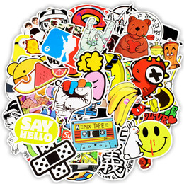 Discount laptop children - 100 PCS Random Waterproof Assortment Stickers Toys for Children Tablet Laptop Snowboard Car Luggage Skateboard Bicycle M