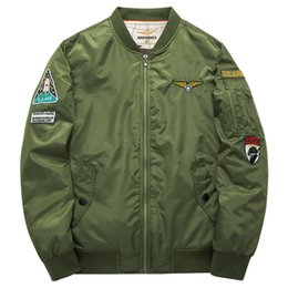 20bd41d01d5f Wholesale 2018 Personality Badge Decoration Face Jackets Men Youthful  Popularity Mens Designer Jackets Breathable MA1 Pilot Jackets