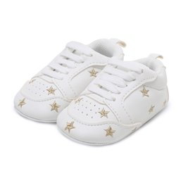 ea3fccff4106 Newborn Baby Boy Girl Shoes Polka Dots Soft Cotton Toddler Crib Infant  Little Kid Sole Anti-slip First Walker