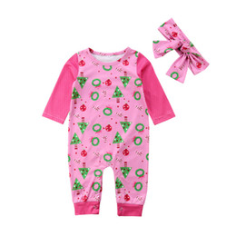 Christmas Cute Infant Newborn Kids Baby Girl Boy Girl Long Sleeve Flowers  Jumpsuit Romper+Hairband Clothes Outfit 0-24M d58997040