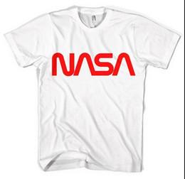 Nasa Logotipo Vermelho Unisex T Shirt Todos Os Tamanhos Preto Branco em Promoção