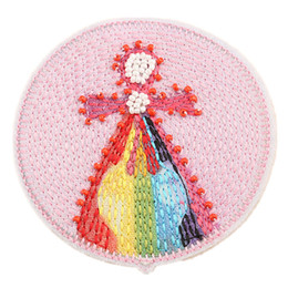 StereoScopic bag online shopping - 9CM Sew Iron Embroidery Patch Handmade Beads Doll Girl Patches Stereoscopic Badges For Bag Jeans Hat T Shirt DIY Appliques Craft Decoration