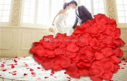 $enCountryForm.capitalKeyWord NZ - Hot sale Rose Artificial Flower Petals Silk Fake Flower for Home Wedding Room Layout Party Decoration 5*5cm