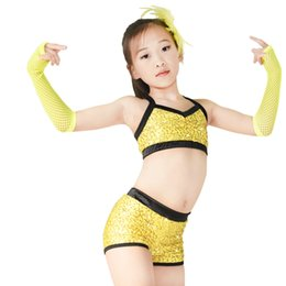 $enCountryForm.capitalKeyWord Australia - MiDee Sequined Crop Top & Shorts for Hip Hop Gymnastics Bodysuit Pole Dance Costumes Outfits 2 pieces Gym Uniform
