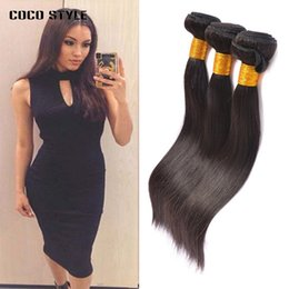 straight 12 inch weaves Australia - 100% Human Hair Bundles Brazilian Straight Hair Weave 3 Piece lot 8-26 Inches Natural Black Remy Hair Extensions