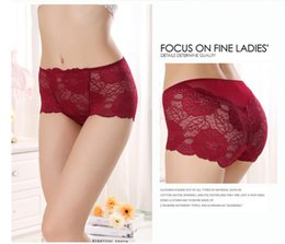 women large panties Canada - PRTYW Sexy Lace High Waist Women Briefs Rose Hollow Transparent Large Size Panties Seamless Underwear Women Breathable