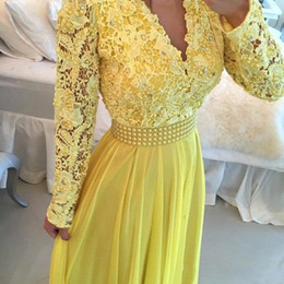 Images White Evening Dresses Australia - 2018 A Line Formal Evening Dresses Party Prom Wear Sexy V Neck Long Sleeve White And Royal Blue Dress Floor Length