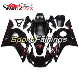 R6 Abs NZ - Black With Red Flames Full Motorcycles Fairings For Yamaha YZF600 R6 YZF-R6 1998 1999 2001 2002 Injection ABS Plastic Motorcycle Fairing Kit
