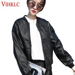 $enCountryForm.capitalKeyWord Canada - Leather Jacket Female Spring Autumn 2018 New Motorcycle Short Korean Jackets Loose Thin Students Wild BF Wind Zippers Black Z60