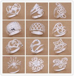 Top China Wholesale Fashion Jewelry NZ - Mixed Order 24pcs lot 925 silver plated rings fashion jewelry party style Top quality Christmas gift free shipping KKA1947