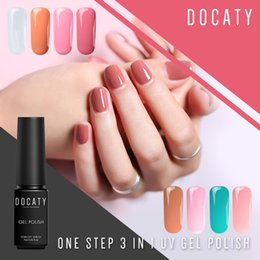 little kits 2019 - Docaty Varnish Camouflage Nude Nail Set One Step 3 In 1 Nails Kit Professional Decorations for Nails Little Things for M