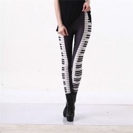 0891752283c3c Piano Leggings Black White Stripe Sexy Leg Hot 3D Graphic Printed Music  Keys Fitness Leggings Pants Gymwear Funky Capris S-4XL S18101506