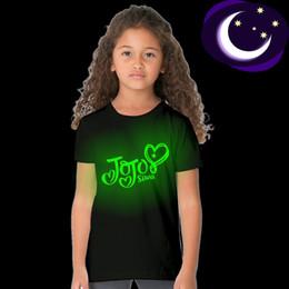Discount teens summer clothes - 2018 New Fashion Jojo Siwa Luminous T Shirt for Kids Girl Summer Tops Jojo Siwa Toddler Children Clothes Teens T-shirt C