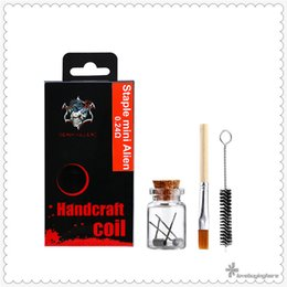 e cig vape wire NZ - LTQ Staple Mini Alien Kit Vape Accessory Pre-heating Wires Brush Tool Best E-Cig Accessories Handcraft Coils Best Vape Epacket Shipping