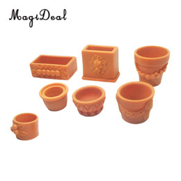 Wholesale Set of Pieces Miniature Flower Pot for Scale Dollhouse Fairy Garden Yard Home Decor Accessories
