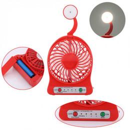 Travel fan online shopping - Portable USB Mini Fan Rechargeable USB Desk Pocket Mini Fan With LED Light Travel QJY99