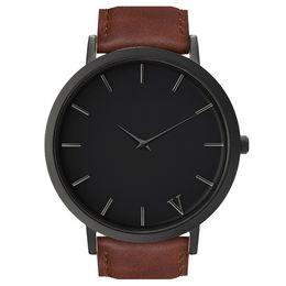 Marca de luxo Relógios Para Homens e Mulheres o quinto Vestido de Quartzo Relógio de Couro Pulseira de Aço Inoxidável Relógios Esportivos