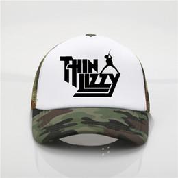 dfa039df4a8 Latest model Thin Lizzy band printing net cap baseball cap Men women Summer  Trend New Youth Joker sun hat Beach Visor hat