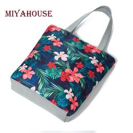 $enCountryForm.capitalKeyWord Canada - Miyahouse Novel Colorful Floral Printed Single Shoulder Bag Women Canvas Design Tote Handbag Female Shopping Bag