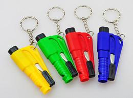Black Cutters Australia - 20PCS Mini Safety Hammer Emergency Bodyguard 3-In-1 SOS Whistle Seat Belt Cutter Window Break Escape Window Glass Breaker Whistle Knife