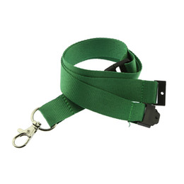 Phone Strap For Gym NZ - 500pcs Green Lanyard in stock Neck Strap for keys ID Card Gym Mobile Phone Straps USB badge holder DIY Hang Rope Custom Logo Available