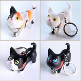4c12a8c925f Cute Cartoon Kitty Puppy Cat Toys 3D Frech Bulldog Pet Keychain Women  Leather Strap Metal Key Ring Chains Car Bag Charm D67