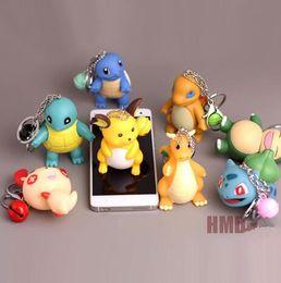 $enCountryForm.capitalKeyWord Australia - 3d Anime Go Key Ring Pikachu Keychain Pocket Monsters Key Holder Pendant Mini Charmander Squirtle Bulbasaur Figure Toys