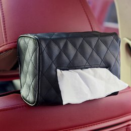 1pc Sun Visor chaise dossier suspendu type voiture à l'intérieur avec boîte de mouchoirs voiture créative fournitures plateau de papier de soie mignon en Solde