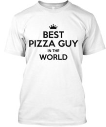 Wholesale Trendsetting Best Pizza Guy In The World T shirt Élégant T shirt Élégant T Shirt Men Man s Designed White Short Sleeve Custom Big Size Tshir