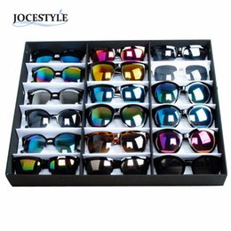 $enCountryForm.capitalKeyWord NZ - 18 Sunglasses Glasses Retail Shop Display Stand Storage Box Case Tray Black Sunglasses Eye wear Display Tray Case Stand hot sale