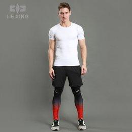 $enCountryForm.capitalKeyWord Australia - Men's Quick-Dry 3Piece Sport Suits Elastic Shirt Shorts Leggings Set for Training Exercise Running Fitness Breathable Sportswear