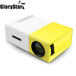 Mini proiettore originale Full HD LED 500LM Audio Mini proiettore USB Mini YG-300 Proyector per Home Theater Media Player Beamer
