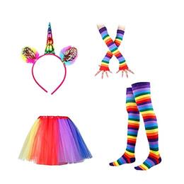 $enCountryForm.capitalKeyWord Australia - Unicorn Tutu Skirt Dress with Unicorn Horn Headband leggings socks gloves Set Kids Children baby Birthday Photo Props Party Costumes Outfit